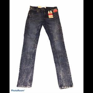 Levi's men's  519 extreme skinny W 28 blue jeans